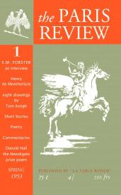 the Paris Review - Cover des ersten Heftes, 1953 Das Bild wurde entnommen aus Wkipedia en. Zum Original einfach auf das Bild klicken
