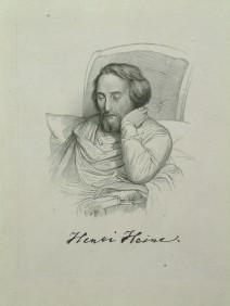 Porträt Heinrich Heine in der Matratzengruft 1851 von Charles Geyre (1806-1874)